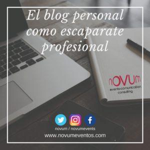 El blog personal como escaparate profesional
