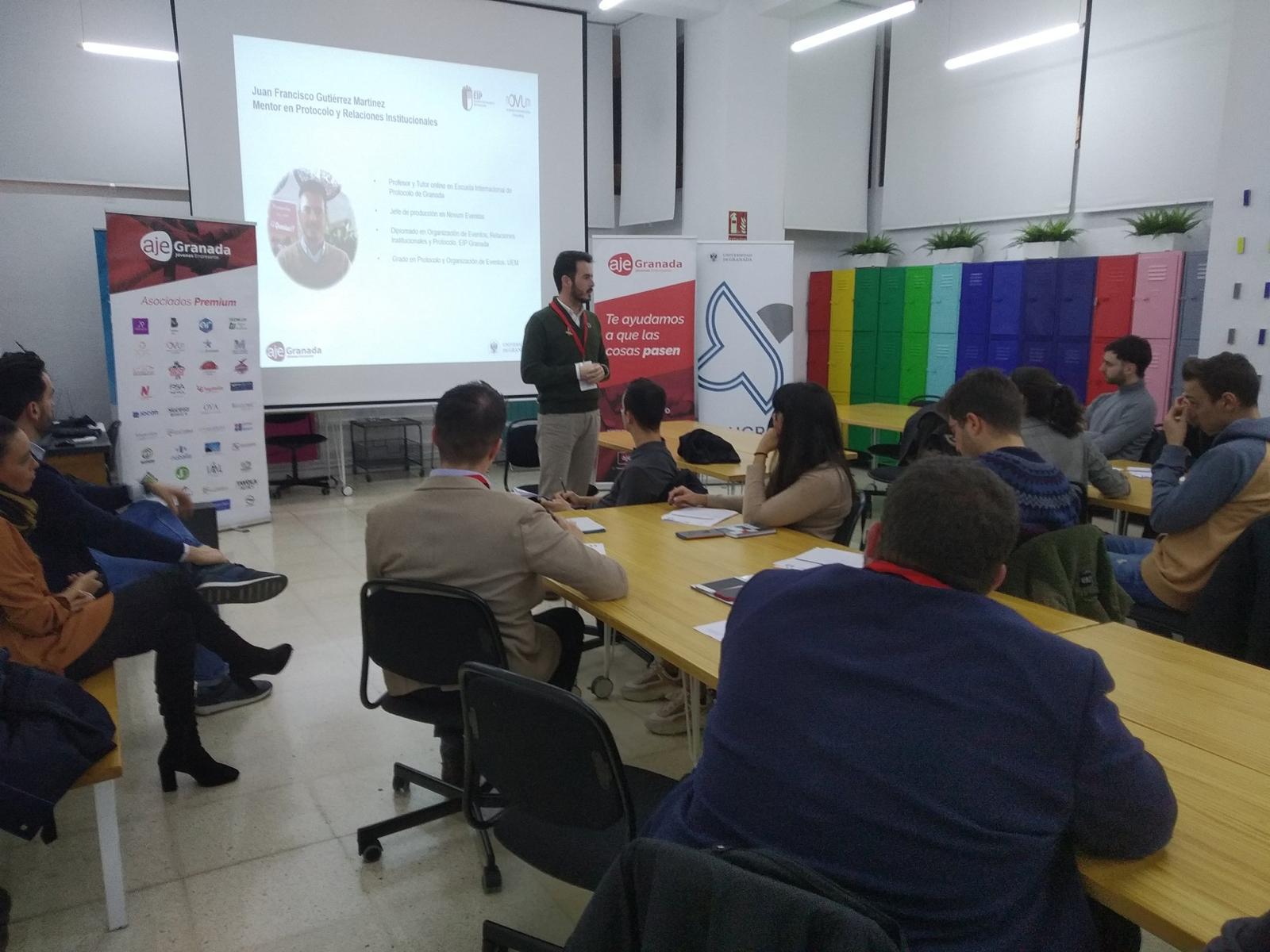 Novum en el matching mentores AJE y UGR Emprendedora